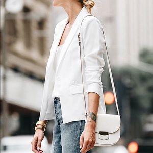Banana Republic White Blazer Two Button Jacket